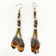 feather earrings mabawa safari chic feather earrings made in kenya ethical