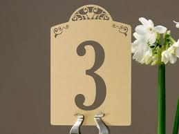 Laser Cut Table Numbers Vintage Manilla Domed Heart Laser Cut Table Number Card In Smooth