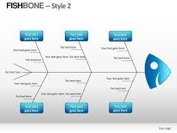 colorful fishbone diagram for powerpoint presentations download
