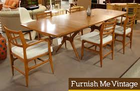 Cone Shape Base Walnut Top Mid Century Round Dining Table At - Mid century dining room chairs