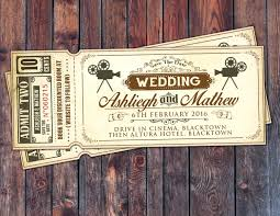 ticket wedding invitations beautiful vintage ticket wedding invitations vintage