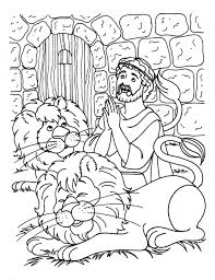 daniel in the lions den coloring page eson me