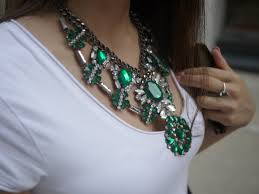 rhinestone statement necklace images Jewels zara gunmetal statement necklace necklace emerald jpg