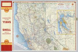 San Francisco California Map by Shell Highway Map Of California Northern Portion David Rumsey