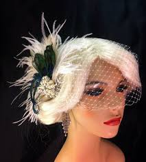 great gatsby hair accessories bridal fascinator feather fascinator peacock hairclip great