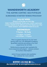 southfields new players free tasters and 5 drop ins available