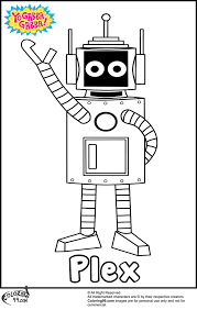 yo gabba gabba plex coloring pages team colors