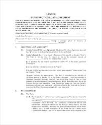 sample construction agreement form 6 documents in pdf word