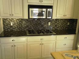 backsplash kitchen designs integrated electric stove dark concrete