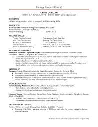 example resumer resume biology degree frizzigame sample resume biology degree frizzigame