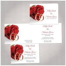 wedding invitations rose red rose u0026 rings wedding invitations