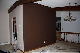 Brown Accent Wall by Wallpaper Plain Jaymes