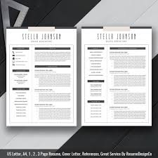 Two Page Resume Instant Download The Stella Resume Resumedesignco Two Page Tem