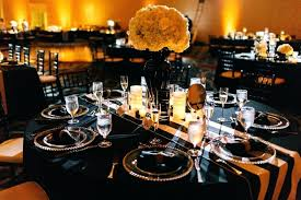 black and gold centerpieces for tables black and gold decor black and gold table decor gold and black