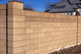 cinder block wall design or by cinder block retaining wall with