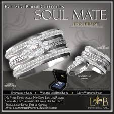 second marketplace wedding ring set his hers celtic
