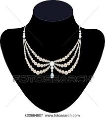 pearl necklace diamonds images Clip art of pearl necklace with diamonds k20664807 search jpg
