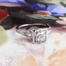 art deco engagement ring circa 1930 u0027s j e caldwell u0026 co old