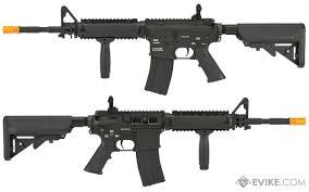 classic army m4 ris airsoft aeg rifle black evike com