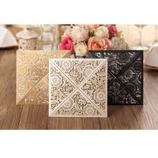 White And Gold Wedding Invitation Cards Aliexpress Com Buy 50pcs Gold White Black Design Rustic Marriage