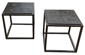 Iron Side Table Cast Iron Side Table Industrial Side Tables And End Wrought