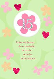 happy flowers spanish language 15th birthday card greeting cards