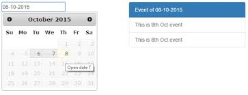 varchar date format php event management script with calendar control using jquery php mysql