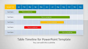 Free Project Timeline Template Excel Table Timeline Template For Powerpoint Microsoft Powerpoint