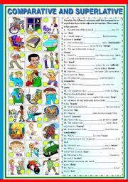 comparative and superlative extra exercises 2 2 b u0026w version and