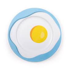 egg plate porcelain plate egg seletti