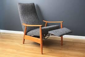 mid century recliner chair vintage mid century milo baughman