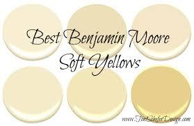 best benjamin moore soft yellows