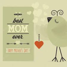 best mom ever and happy mother u0027s day card cute little bird