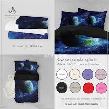 Color Of Earth by Galaxy Bedding Set Earth From Space Duvet Cover Set Stars Nebula