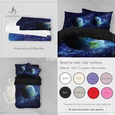 Duvet Cover Stars Galaxy Bedding Set Earth From Space Duvet Cover Set Stars Nebula