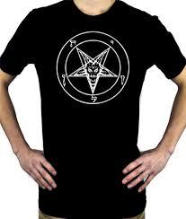 white classic baphomet symbol men u0027s t shirt satanic occult metal