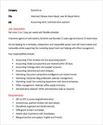 Office Assistant Job Description For Resume by Accounting Clerk Job Description Assistant Accounting Clerk Job