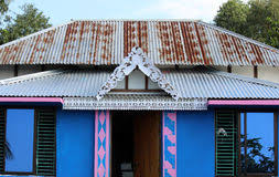 A Village House In Bangladesh Stock Image
