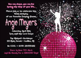 cool party invitations women u0027s birthday party invitation disco dancing queen 70