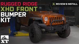 jeep wrangler rugged ridge xhd front bumper kit 2007 2017 jk