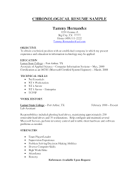 chronicle resume sample chronological resume resume badak