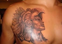 aztec warrior tattoo design for men tattooshunter com