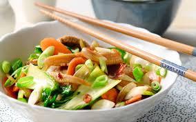 recette cuisine wok wok de viande et de légumes à l aigre douce cuisine et recettes
