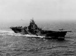 uss intrepid cv 11 during battle of leyte gulf 1944 us navy