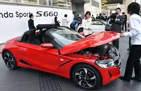 new sports car japan u0027s honda motors unveils a new sports car chicago tribune