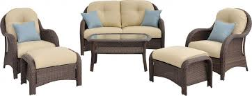 Wicker Patio Conversation Sets Newport 6 Piece Wicker Outdoor Conversation Set