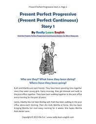 present perfect progressive present perfect continuous story and