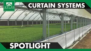Pulley Curtain Systems Atlas Greenhouse Spotlight Curtain Systems Youtube