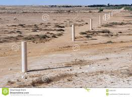 Negev Desert Map Way Of Peace In The Negev Desert Royalty Free Stock Photo Image