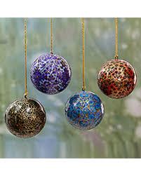 slash prices on papier mache ornaments happy ii set